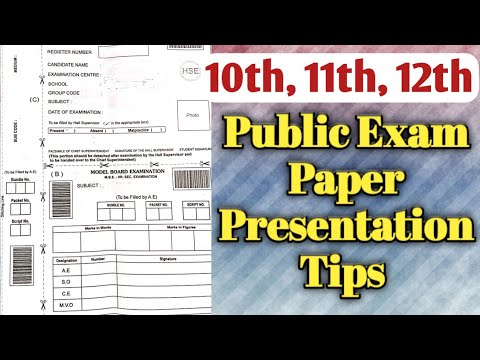 Public Exam Paper Presentation Tips   Toppers Education