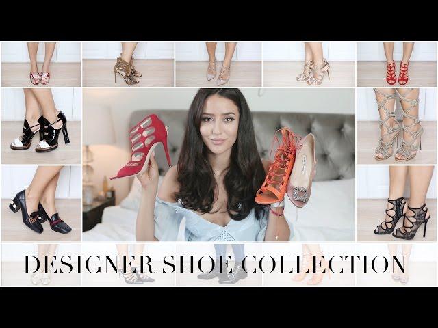 MY DESIGNER SHOE COLLECTION | Chanel, Gucci, Valentino, Aquazzura
