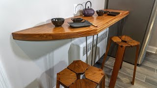 Wooden Kitchen Counter Height Bar