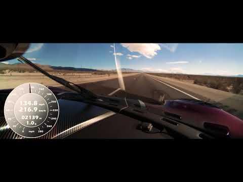 Koenigsegg Agera RS Nevada High Speed Run 0-400-0