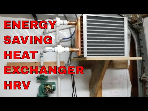 Energy Saving Mushroom Farm Heat and Cooling Recovery System Hydronic HRV