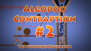 Algodoo contraption #2  The Funworks Mechanism