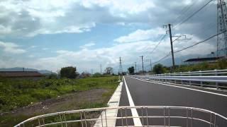 ガタガタ自転車 Load to the University of Yamanashi Hospital in summer