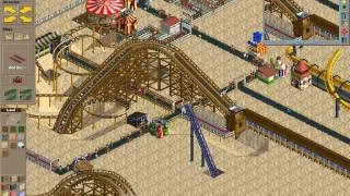 Rollercoaster Tycoon Loopy Landscapes #146 (Dusty Desert: A risky move)