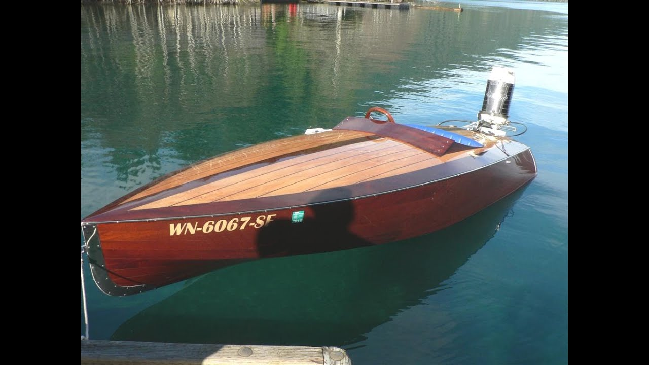 Rascal Runabout Vintage1961 80hp Mercury Outboard Home Built Mahogany Speed Boat Gentlemans Racer