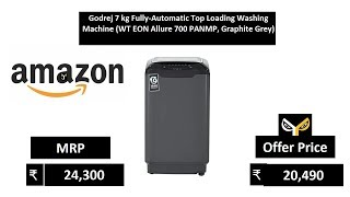 Godrej 7 kg Fully-Automatic Top Loading Washing Machine (WT EON Allure 700 PANMP, Graphite Grey)
