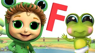 Letter F and More Frog Songs | 5 Little Speckled Frogs | Baby Joy Joy on Clap Clap Baby