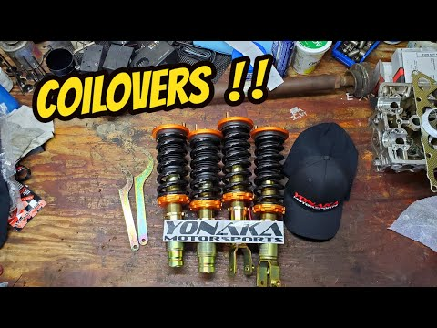 Installing Yonaka Coilovers In The EK Civic! (How To Install & Adjust Coilovers)