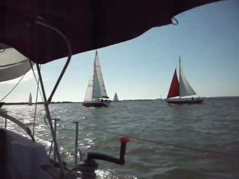 Sailing Cape Fear River, Southport, NC Wilmington, November 20, 2011