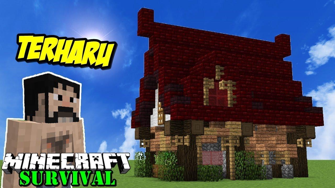 Membuat Rumah Unik Untuk Manusia Serigala Minecraft Suvival 40 Youtube