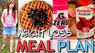 My NEW EXACT WEIGHT LOSS MEAL PLAN!