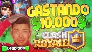 SPENDING $10,000$ IN CLASH ROYALE [1,400,000 GEMS]