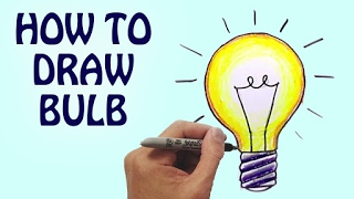 How To Draw Bulb For Kids Step By Step | Drawing Lessons For Kids