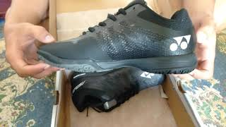 Sepatu Badminton Yonex Aerus 3 Black by ndeso grosir