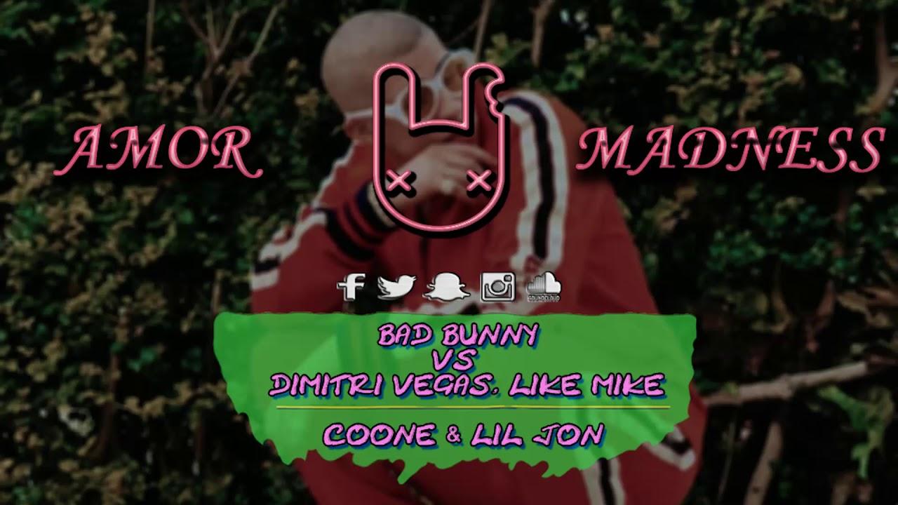 [4K!] Bad Bunny vs DV&LM, Coone & Lil Jon - AMOR MADNESS (Facüü Martinez Mashup)