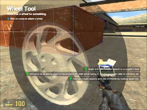 How to make an simple car on Garrys mod (No addons!)