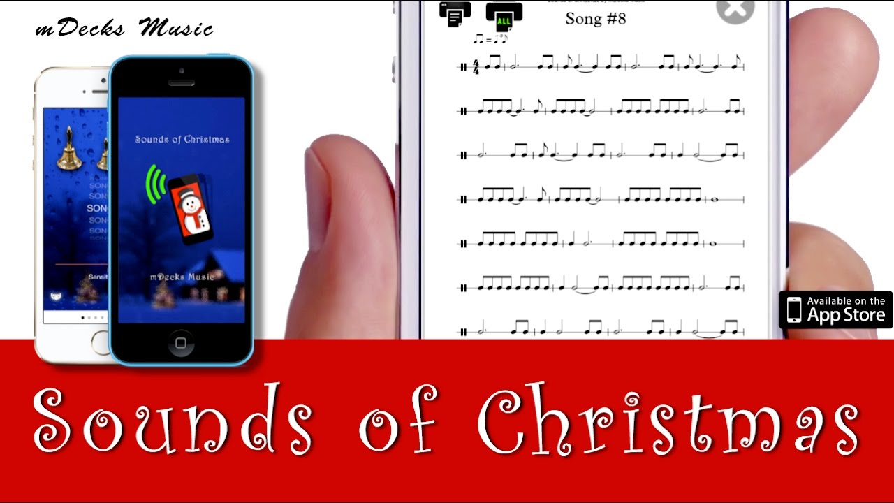 Sounds of Christmas by mDecks Music. Rhythm Trainer App. Music Education Video