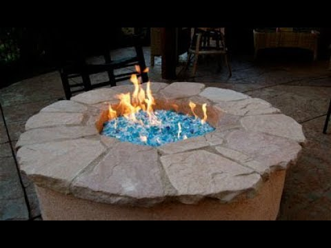 Fire Pit Glass Rocks - Fire Pit Glass Rocks - YouTube