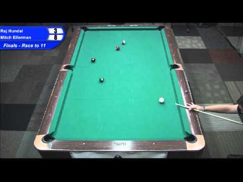 Mitch Ellerman vs Raj Hundal - Seminole Pro Tour 10 Ball Finals  Mountainview CA