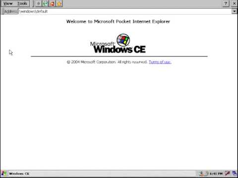 Microsoft Windows CE 5 0 (2004) - Windows Internet Explorer 6 0 (2001-2006)
