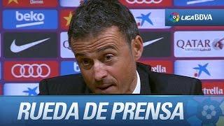 Rueda de prensa de Luis Enrique tras el FC Barcelona (4-0) Real Sociedad