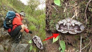Mendaki gunung, Pria ini temukan Benda Aneh, saat dipegang malah bergerak,  ternyata ini..