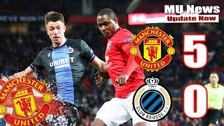 Manchester United Vs Club Brugge 5 0 Highlights & Goals