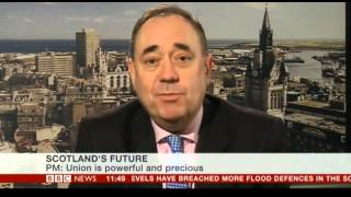 Alex Salmond on BBC News channel, 7 Feb 2014