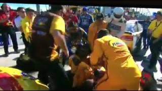 joey logano and kyle busch fight