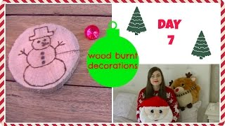 Wood Slice Tree Ornaments Tutorial  {diy} | Crafty Christmas