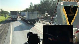ДТП три грузовых автомобиля , трасса М-7 .