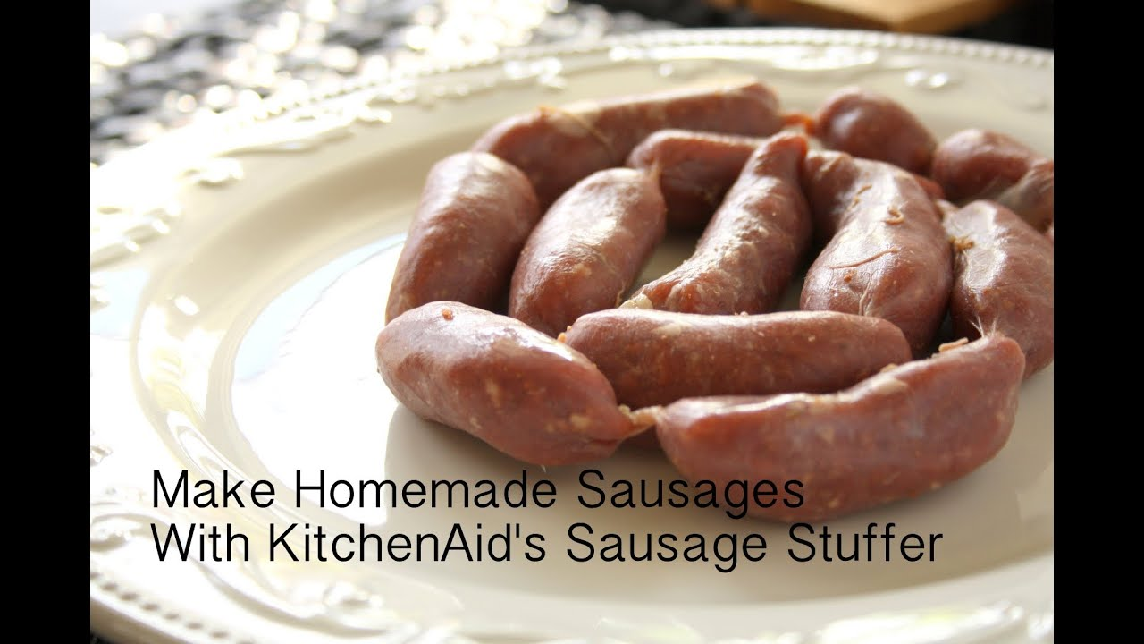 Foodie TV: How to Make Homemade Sausage with KitchenAid's ...