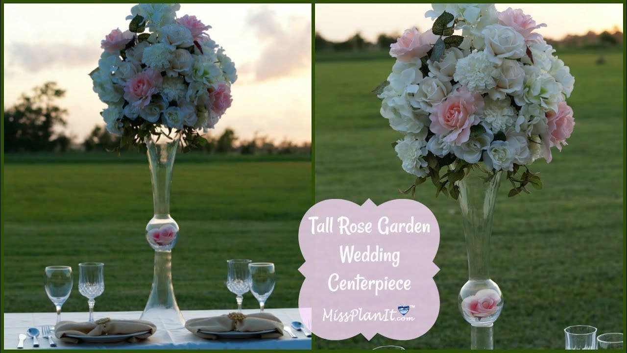 diy tall rose garden wedding centerpiece diy tall centerpieces rh youtube com  diy dollar tree tall wedding centerpieces