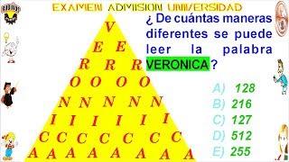 Examen Admisión A La Universidad Callao Razonamiento Inductivo Conteo De Palabras Solucionario Unac