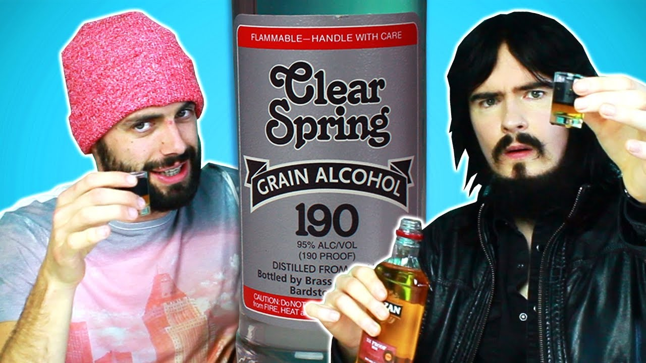 Irish People Try America's Strongest Alcohol (95%, 190 Proof) - YouTube