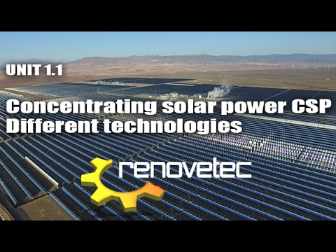 UNIT 1.1 Concentrating solar power CSP: different technologies