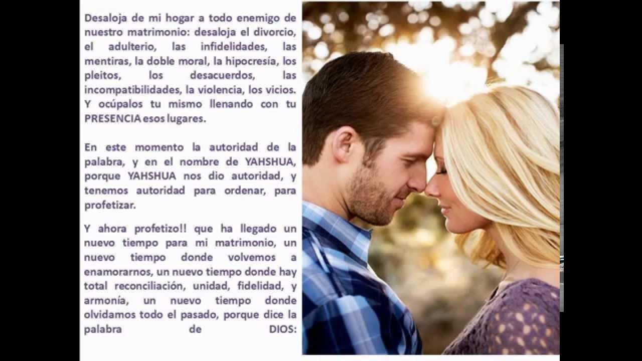 Oracion 3  Para restaurar tu matrimonio