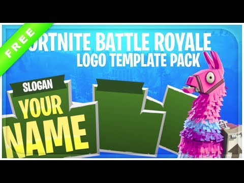 Fortnite Battle Royale Logo Template Pack + Free Download - YouTube