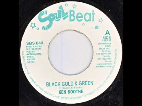 Ken Boothe Black gold & green