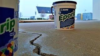 ▨ Oprava trhlin v betonu pryskyřicí MAPEI Eporip. Obkladač Praha. Ceník obkladačských prací 2020.