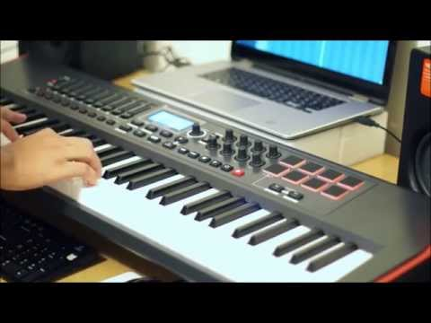 Testing My Novation Impulse 61 Midi Keyboard Piano Improvisation