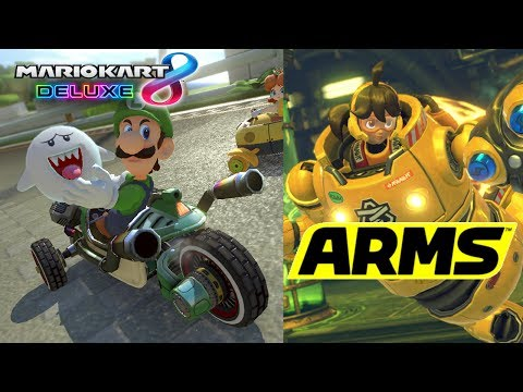 Download Mario Kart 8 Deluxe 200cc, Then ARMS Party Mode! Images