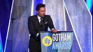 James Franco winning the 2017 IFP Gotham Award for Best Actor for THE DISASTER ARTIST
