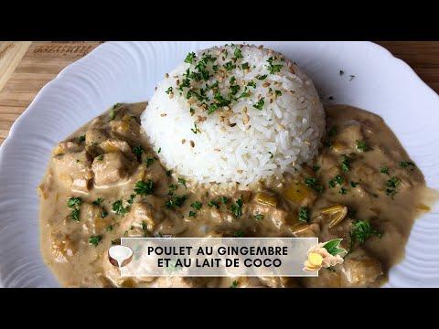 recette-simple-et-rapide:-poulet-au-gingembre-et-au-lait-de-coco