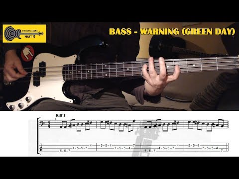 Warning (Green Day) BASS LESSON with TAB