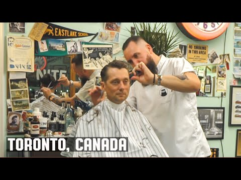 The Nite Owl Barber Shop Toronto Canada Haircut Harry Experience