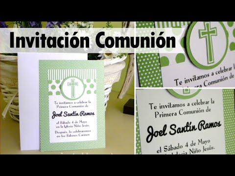 Invitaciones Para Primera Comunión Hechas En Casa
