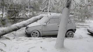 19 апреля 2017 в Запорожье снег бабурка апрель ты сошёл с ума