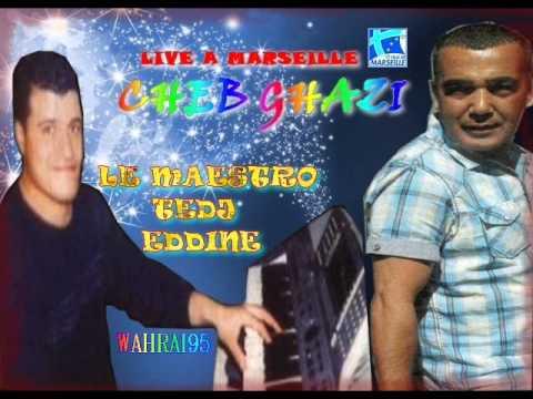 Cheb ghazi live en 2006 à marseille le maéstro tedj eddine
