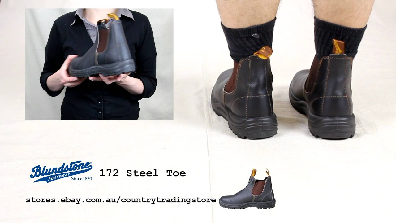 Blundstone 172 Steel Toe Safety Boot Youtube